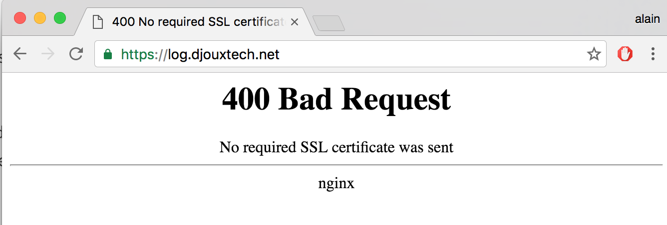 Nginx Client Certificate Authentication